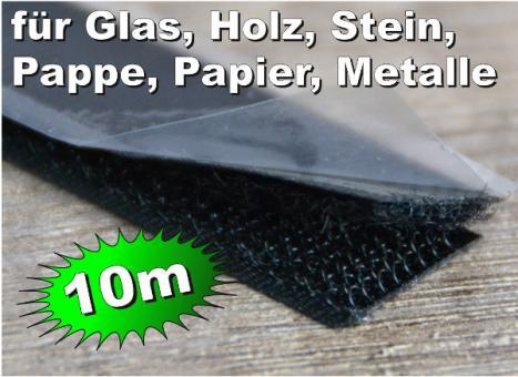10m Klettband selbstklebend Hotmelt