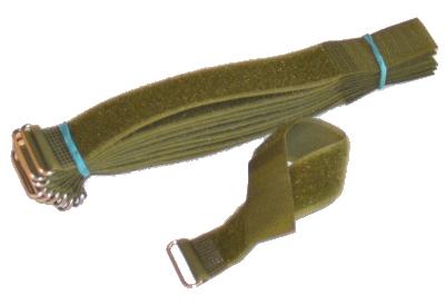10 Klett Kabelbinder 25mm Jägergrün