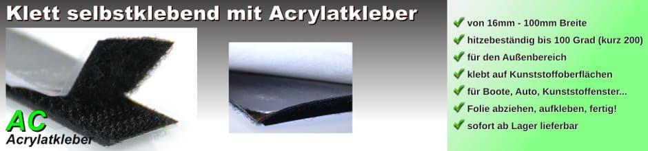 Klettband selbstklebend Acrylat